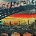 F 711 Dublins Ha,penny Bridge. by Val Byrne