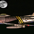 F-86 And The Moon by Tommy Anderson