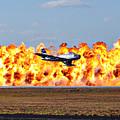 F-86 Wall Of Fire by Mark Weaver