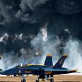 F/a -18 Super Hornet, U S Navy Blue Angeles by Bruce Beck