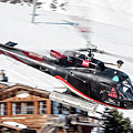 F-gsdg Eurocopter As350 Helicopter Courchevel by Roberto Chiartano