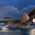 F14 Carrier Launch by Alan Pearson