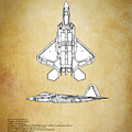 F22 Raptor Blueprint by J Biggadike