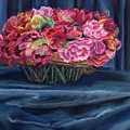 Fabric And Flowers by Sharon E Allen