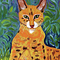 fabulous cat portrait in the style of Van Gogh's by Vladimir Nenashev