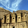Facade Of Ad Deir An Ancient Rock-cut Monastery In Petra by Sami Sarkis