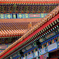 Facade Painting Inside The Forbidden City In Beijing by Julia Hiebaum