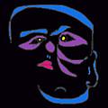 Face 1 On Black by John Vincent Palozzi