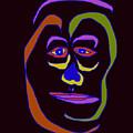 Face 5 On Black by John Vincent Palozzi