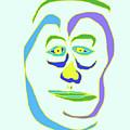 Face 5 On Light Blue by John Vincent Palozzi