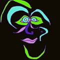 Face 6 On Black by John Vincent Palozzi