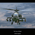 Face Of Death Ah-64 Apache Helicopter by Randy Steele