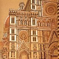 Faced Of Florence Cathedral  by Franco Masci