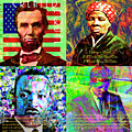 Faces Of Equality And Freedom In America Abe Lincoln Harriet Tubman Martin Luther King Jfk 20170828 by Wingsdomain Art and Photography