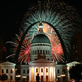 Fair St Louis Fireworks by William Shermer