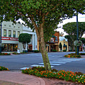 Fairhope Ave With Clock by Michael Thomas