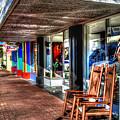 Fairhope Cadeaux Sidewalk  by Michael Thomas