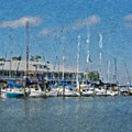 Fairhope Yacht Club Impression by Michael Thomas