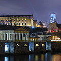 Fairmount Waterworks And Art Museum At Night by Bill Cannon
