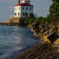 Fairport Harbor Lighthouse Panoramic by Dale Kincaid