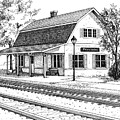 Fairview Ave Train Station by Mary Palmer