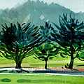 Fairway Junipers by Donald Maier