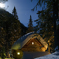Fairy House In The Forest Moonlit Winter Night by Vladimir Belogorokhov
