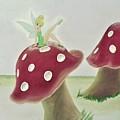 Fairy On Mushroom Trees by Suzn Art Memorial