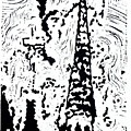 Faith--hand-pulled Linoleum Cut Relief Print by Lynn Evenson