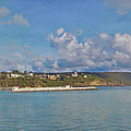 Fajardo Ferry Service To Culebra And Vieques Panorama by David Zanzinger