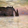 Falaise Detretat by Claude Monet