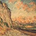 Falaises A Fecamp by Claude HARDENNE