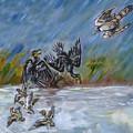 Falcon Attack  by Dawn Senior-Trask
