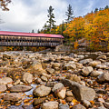 Fall At Albany Covered Bridge by Scott Patterson