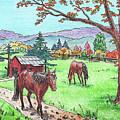 Fall At The Horse Ranch by Irina Sztukowski