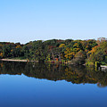 Fall At The Riverbend Panoramic by Maggy Marsh