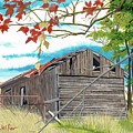 Fall Barn by David Wolfer