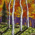 Fall Birch Trees Painting by Keith Webber Jr