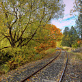 Fall Color On The Tracks by David Patterson