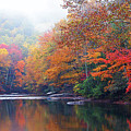 Fall Color Williams River Mirror Image by Thomas R Fletcher