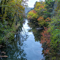 Fall Colors Along The Tallulah River by Barbara Bowen