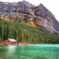 Fall Colors At Lake Louise Alberta  by Nadia Seme