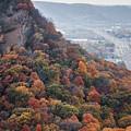 Fall Colors Bluff Winona Minnesota by Kari Yearous