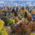 Fall Colors In Spokane From The Post Street Hill by Ben Upham III