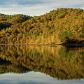Fall Colors On Lake Reflection by Cris Ritchie