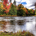 Fall Colors On The Moose River by David Patterson