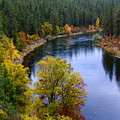 Fall Colors On The River by Ben Upham III