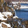 Fall Creek Falls In Winter by DeeLon Merritt