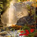 Fall Falls Mist  Dead River Falls  Marquette Mi by Michael Bessler