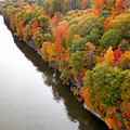 Fall Foliage In Hudson River 10 by Jeelan Clark